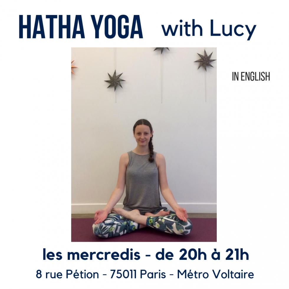 cours de hatha yoga en anglais au 8 Petion salle à louer à Paris