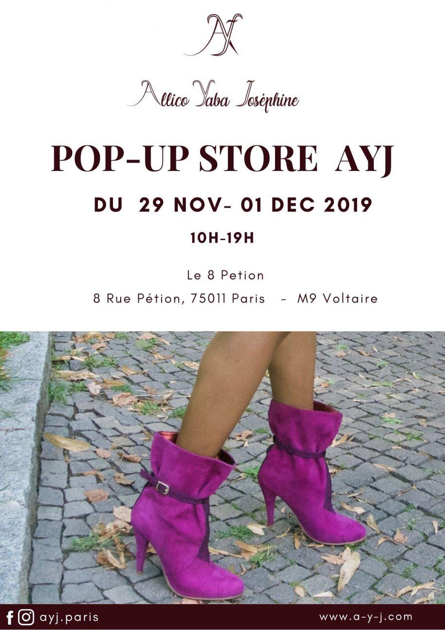 un pop up store chaussures au 8 Petion à Paris 11