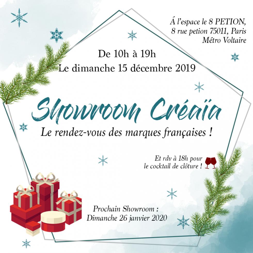 Showroom Créaïa spécial Noël au 8 Petion Paris 11