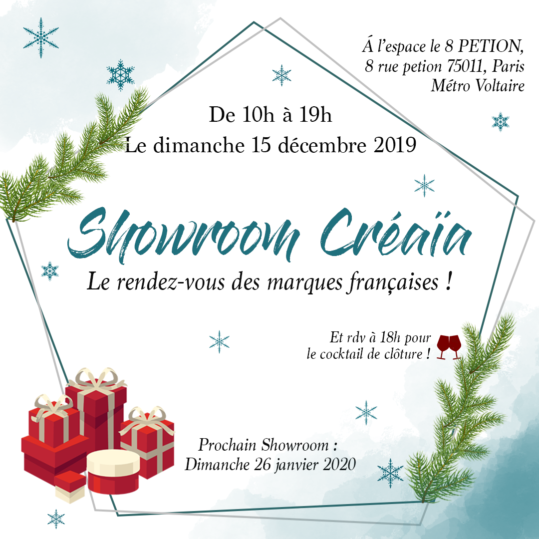 🎄Showroom de Noël Créaïa à Paris🎄