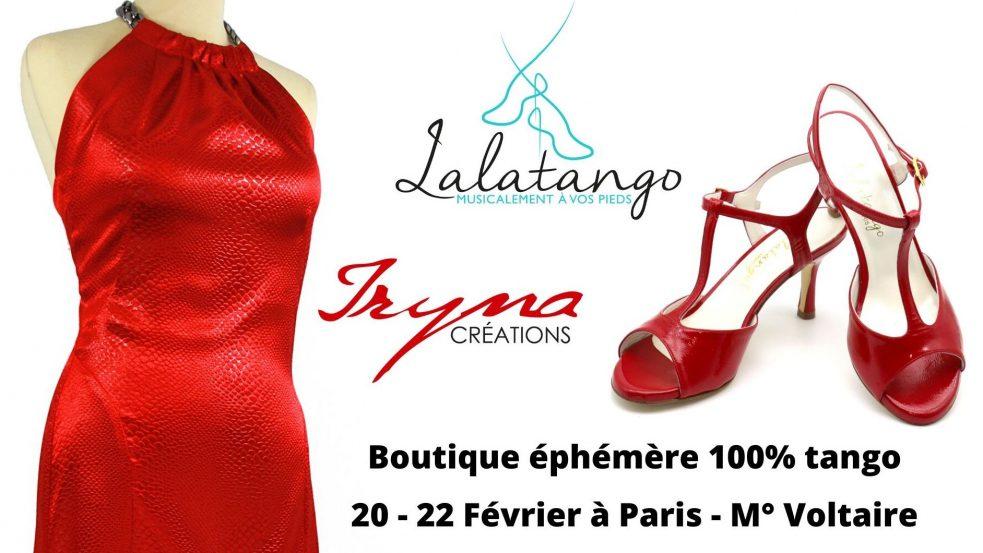une boutique éphémère chaussures et vetements 100% Tango au 8 Petion à Paris